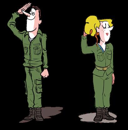 Militaire homme femme